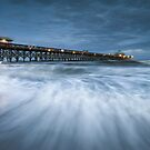 Folly Beach Blues - Folly Beach Pier Charleston SC by Dave Allen