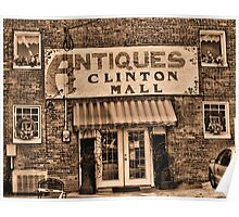 Antiques... Clinton Mall #3 Poster