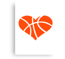 Basketball heart Canvas Print