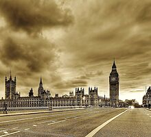 Westminster Bridge Sepia by Chrisbit