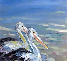 Pelican pals by Karin Zeller