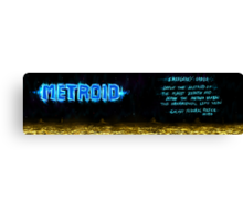 Metroid Metal: NES Theme Canvas Print