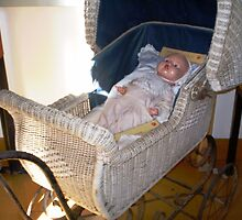 Very old pram & baby doll at Harcourt Museum by EdsMum