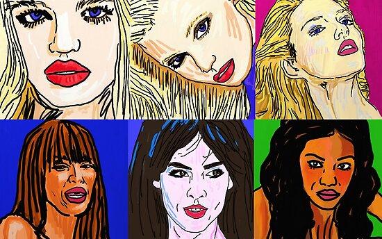 Daphne Groeneveld, Abbey Lee Kershaw,Anja Rubik, Naomi Campbell, Andi Muise, Chanel Iman by Rachedi Kamel