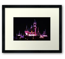 Disney Castle at Night Framed Print
