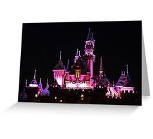 Disney Castle at Night Greeting Card
