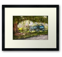 Country - The old wagon out back  Framed Print