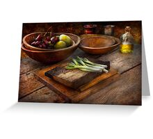 Food - Vegetable - Garden variety Greeting Card