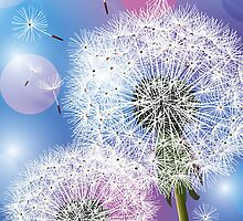 Dandelion Make A Wish  iPhone 5 Case / iPhone 4 Case  / Samsung Galaxy Cases  by CroDesign