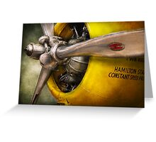 Plane - Pilot - Prop - Twin Wasp Greeting Card