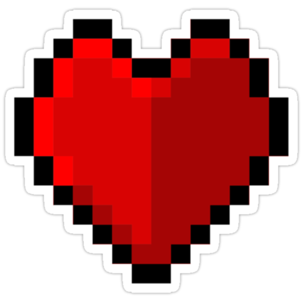 Pixel heart - I love retro by eaaasytiger