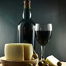 Wine, Cheese and Olives by photoshot44