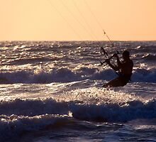 Kitesurfing at Arambol by SerenaB