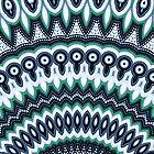 Funky Peacock Mandala Pattern iPhone case by Vicki Field