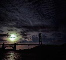Golden Gate Bridge at Sunset by Rodney Johnson
