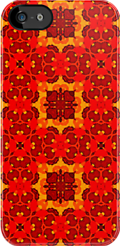 Red and yellow pattern  by Pendraia