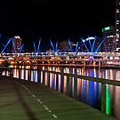 Night cityscape South Bank Brisbane  by PhotoJoJo