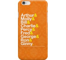 The Weasleys Jetset iPhone Case/Skin