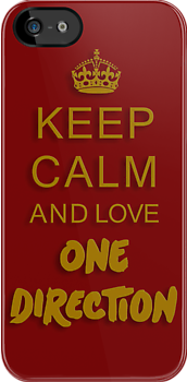 Keep Calm and love One Direction by PlangPlung