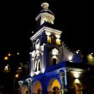 Turi Church At Night by Al Bourassa