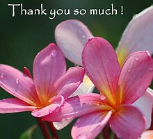 pink frangipani thank you card by N8turesGifts