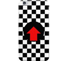 Mod Checkered Two Tone with Red Arrow by 'Chillee Wilson' iPhone Case/Skin