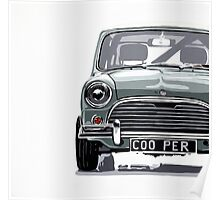 Classic Mini Cooper front view. Poster