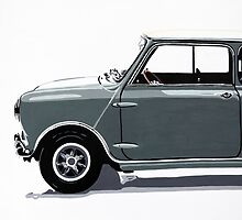 Classic Mini Cooper side view. by Phil Bower