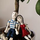 Paul and Mary resting under the lime tree by Ina Mar