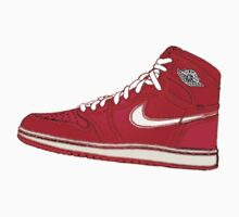 AIR JORDAN 1: RED GS RETRO FITTED by S DOT SLAUGHTER