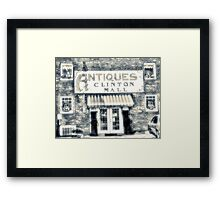 Antiques... Clinton Mall   #4 Framed Print