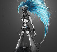 Rainbow Punk: Cybernetic Blue by Barbora  Urbankova