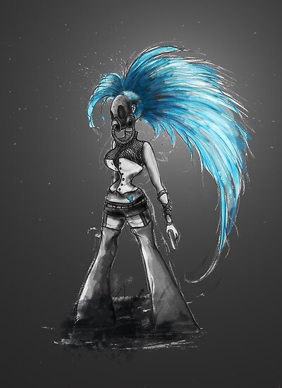Rainbow Punk: Cybernetic Blue by Barbora  Urbankova