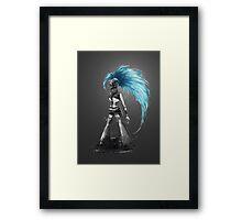 Rainbow Punk: Cybernetic Blue Framed Print