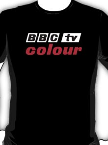 Retro BBC colour logo, as seen at Television Centre (in white) T-Shirt
