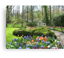 Little Bridge - Keukenhof Gardens Canvas Print