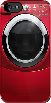 Red Washer Machine (case) by Maria  Gonzalez