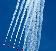 Canadian Snowbirds Over The Top by Bob Christopher