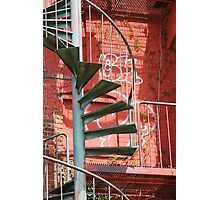Fire Escape and Graffiti Photographic Print