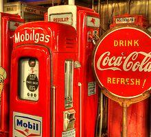 Vintage Gas Pumps by Bob Christopher