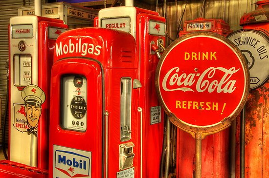 Vintage Gas Pumps by Bob Christopher