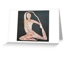 Yoga Position Greeting Card