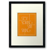 Stop Scowling • Fanta Framed Print