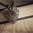 Gothic Victorian Heart Locket Necklace  by SKAIOR Designs