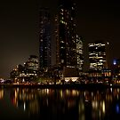 Melbourne by night 02 by DavidsArt