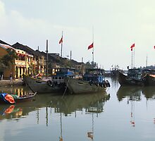 Fishing Boats, Hoi An, Vietnam by John Raftery