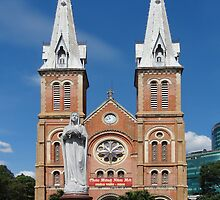 Notre Dame Cathedral, Ho Chi Minh, Vietnam by John Raftery