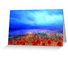 Poppies in the mist'... Greeting Card