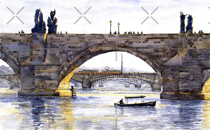 Prague Bridges by Yuriy Shevchuk