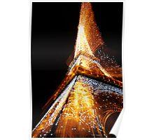 Eiffel Tower Sparkles Poster